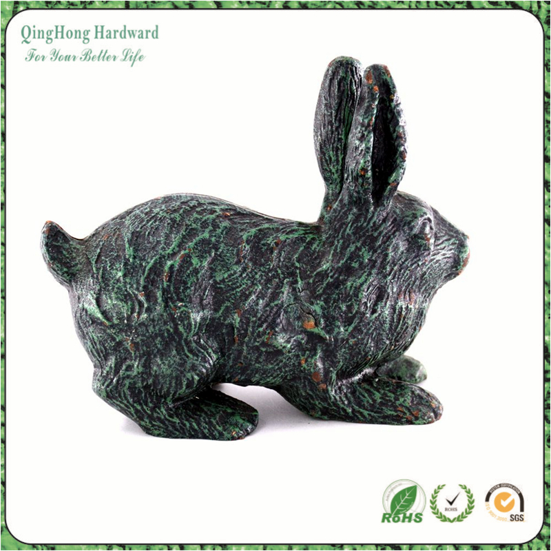 China Art and Craft Supply Cast Iron Animal Rabbit For Home Decor