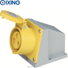 Cee 125A 3p Yellow Three Phase Industrial Wall Outlet(QX.143-4)