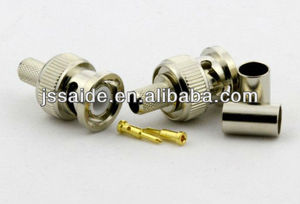 BNC type male connector crimp on H155 cable