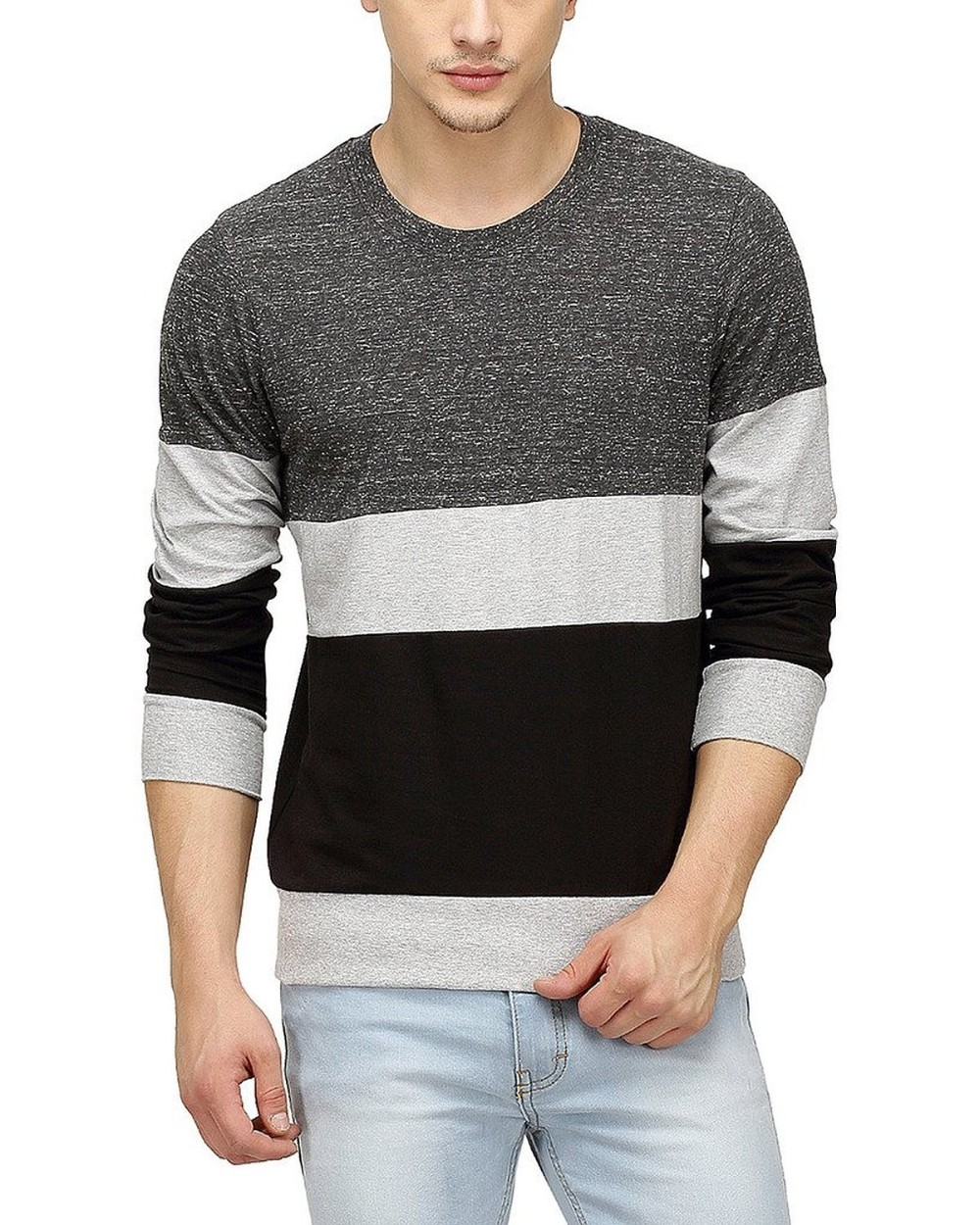 Clothing Manufacturers Overseas Men Tri Colour Full Sleeve Custom ...