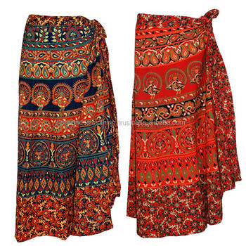 a900035127 Long Cotton Sarong / Long Cotton Wrap Skirts / Long Beach Cover up Made in  India