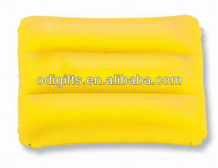 Inflatable pillow cushion PVC inflatble beach pillow bag