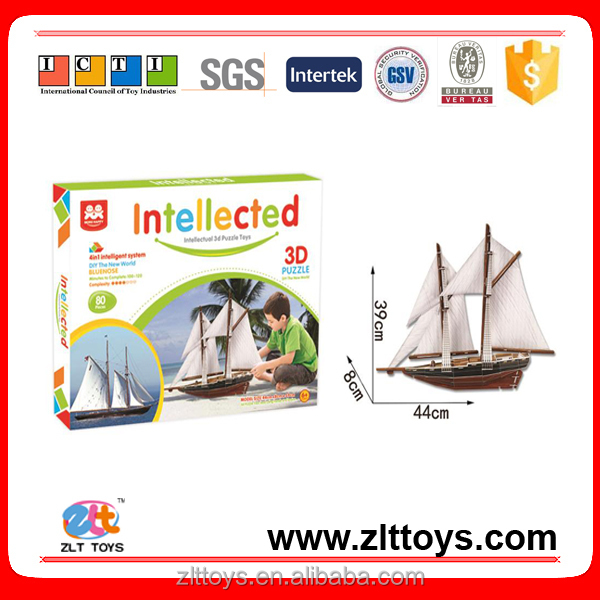 Best selling toy kids 3d paper puzzle for sale