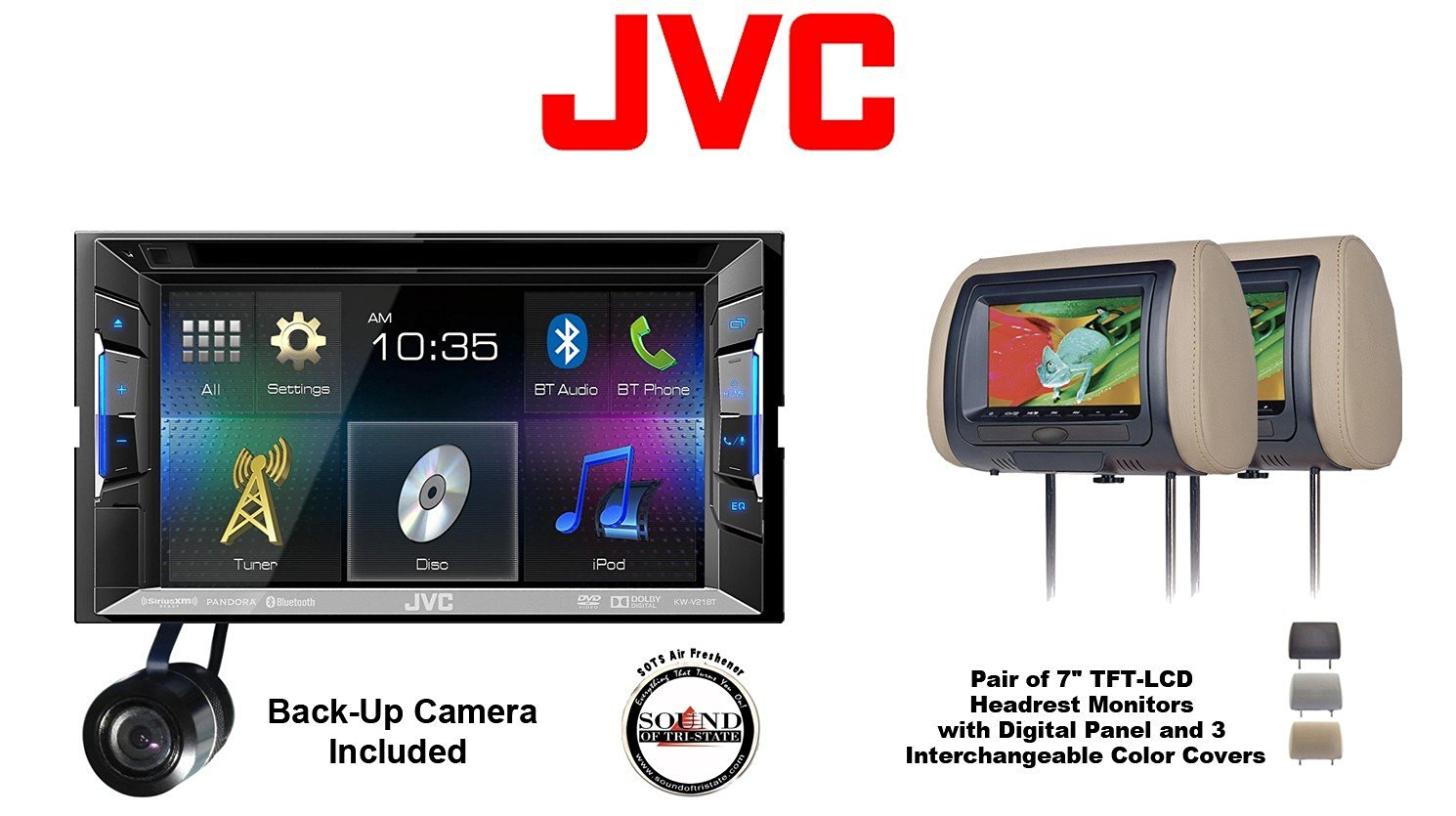 buy jvc kw v21bt 6 2 bluetooth dvd car receiver ipod to. Black Bedroom Furniture Sets. Home Design Ideas