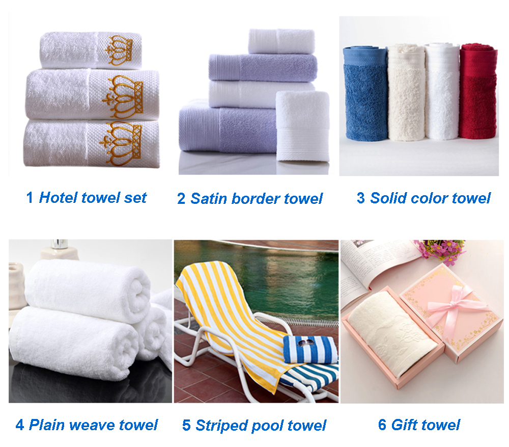 JR148 Toalla De Algodon Diamond Band Hilton Hotel Towel Set