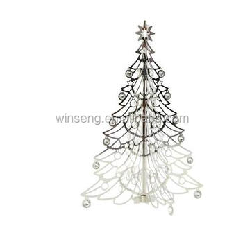 Hot Sale Silver Christmas Tree Hanging Ornament Stand With