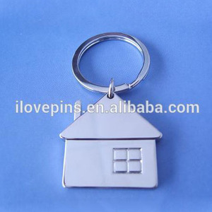 zinc alloy type house shaped metal key chain crafts