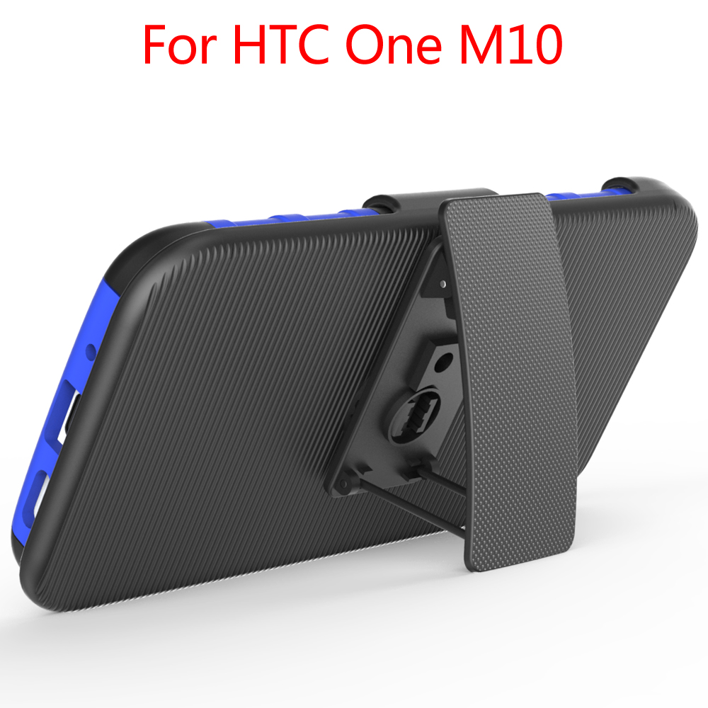 3 In 1 Kickstand With Belt Clip Holster Mobile Phone Case For HTC M10,TPU+PC Case
