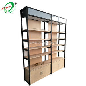 Heavy Duty Gondola Display Retail Wall Shelving with Drawer
