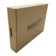 Black printing BE flute rigid corrugated cardboard box with handle for packing