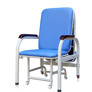 Medical escort chair bed double use single person folding lunch break chair for hospital use sleeping chair bed thickening reinf