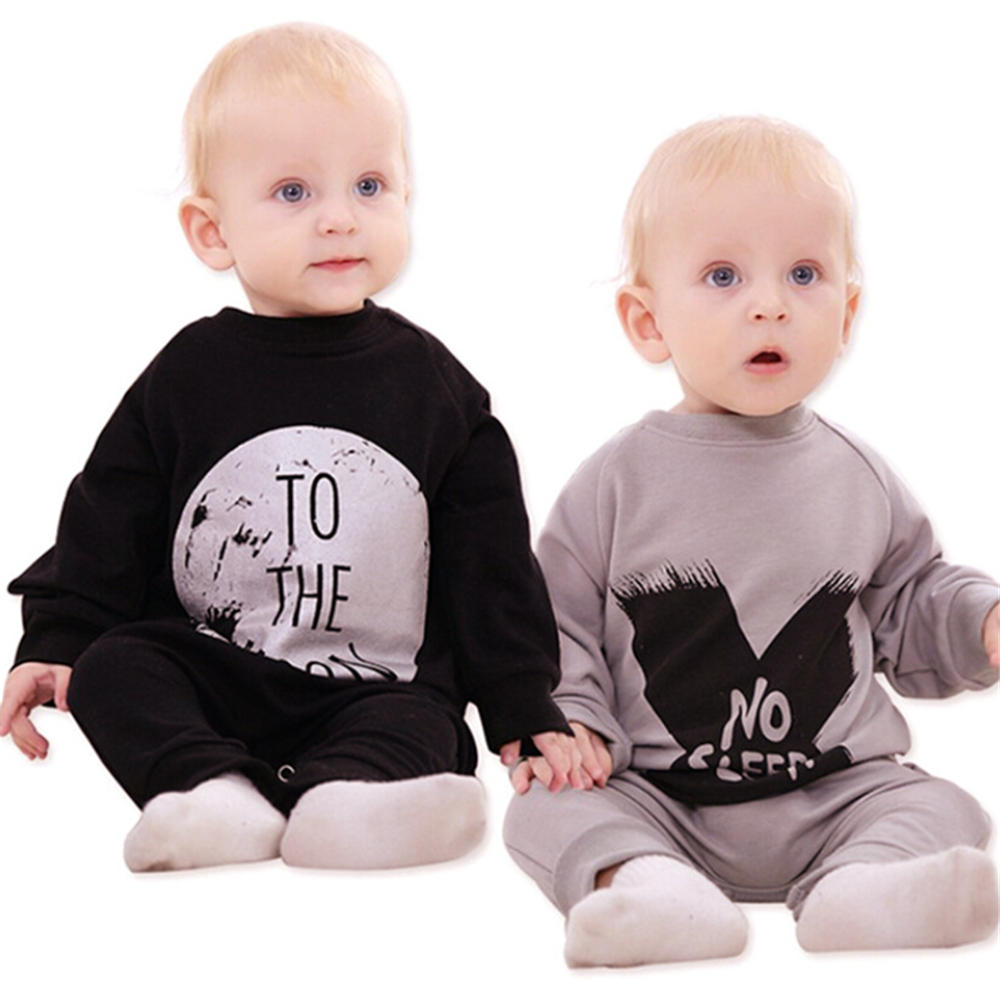 Cozy Infant Clothing Hot I Love You to the Moon and Back Baby Boy Girl Jumpsuit One-piece Baby Romper YM06PF