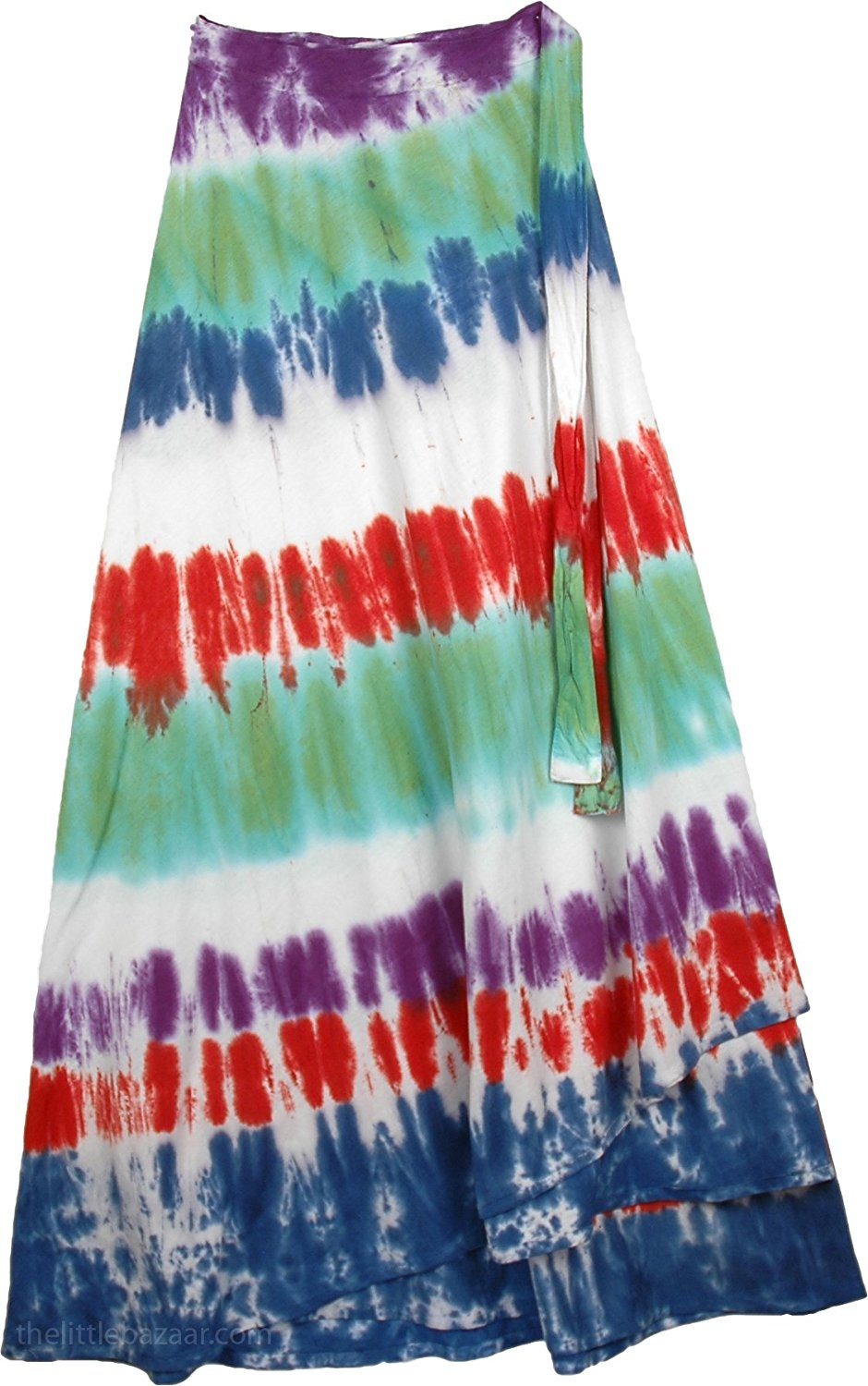 TLB - Flush Circles Tie Dye Wrap Long Skirt
