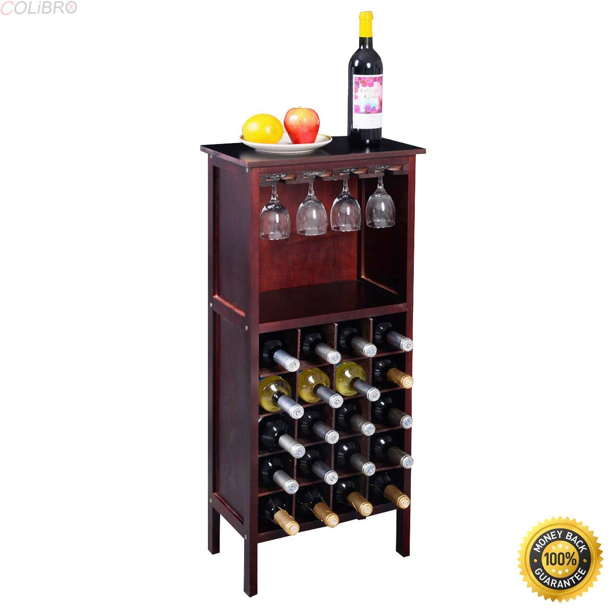 Get Quotations Colibrox New Wood Wine Cabinet Bottle Holder Storage Kitchen Home Bar W Gl