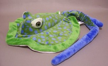 Green & Blue Long Tail Dot Stingray Plush Wildlife Artists Stuffed Animal