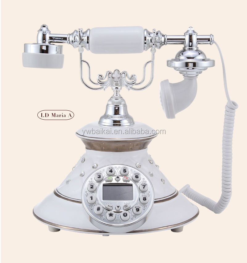 Environmental radiation protection antique white telephone