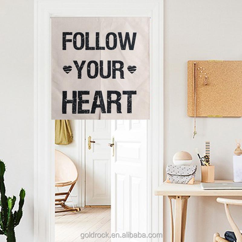 Benutzerdefinierte Minimalistischen Sprüche Der Liebe Englisch Gedruckt  Baumwolle Leinen Stil Vorhänge Wohnzimmer Partition Decor Bildschirm Vorhang