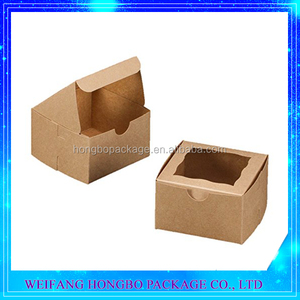 brown bakery box with window take out gifts boxes for pastry
