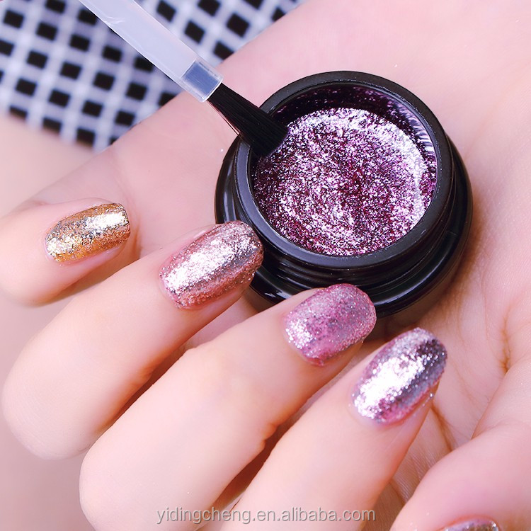 Professional Factory Supplier High quality Shimmer platinum uv nail gel in bulk or retail