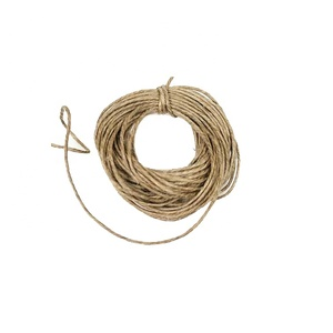 8mm Jute Rope 3 Strands Twisted Hemp Rope For Sale
