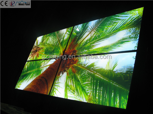1200*600mm middle east indoor decoration palm tree sky led lighting panel