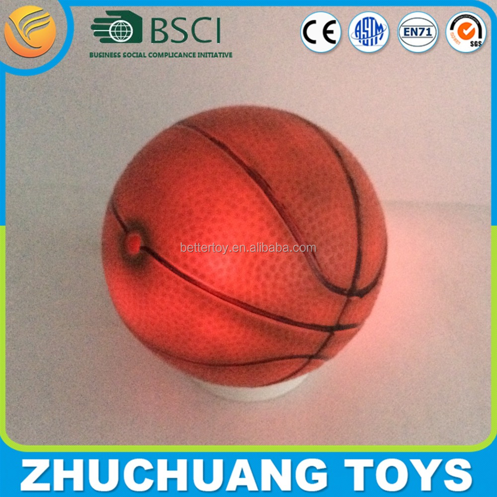 5 inches small inflatable led light ball basketball