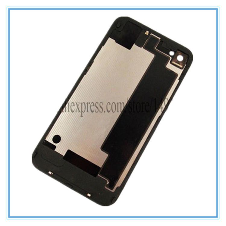 Черный GSM для iPhone 4S совместимость задняя крышка отсека на задней панели листовое стекло жилья взамен