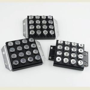 Any design black color keypad factory price metal alphanumeric keypad