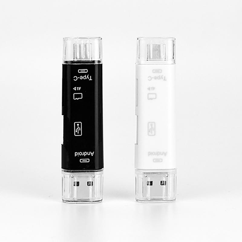 All In 1 USB 3.1 OTG Card Reader SD TF Micro SD Card Reader Type C USB C Micro USB Memory Support Mac10 Win7/8/xp/vista