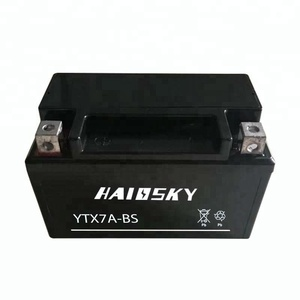 Haissky YTX7A-BS 12v 7ah wet charged battery,for motorcycle honda cbr 250r battery