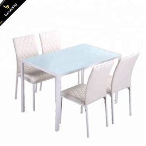 Free Sample Cheap Tempered Glass Dining Table/ Dining Room Furtniure/Classic Modern Dining Table Set