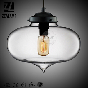 ZLC116P Fish Bowl Glass Pendant Light Colorful Art Light Amber Simple Pendant Lamp