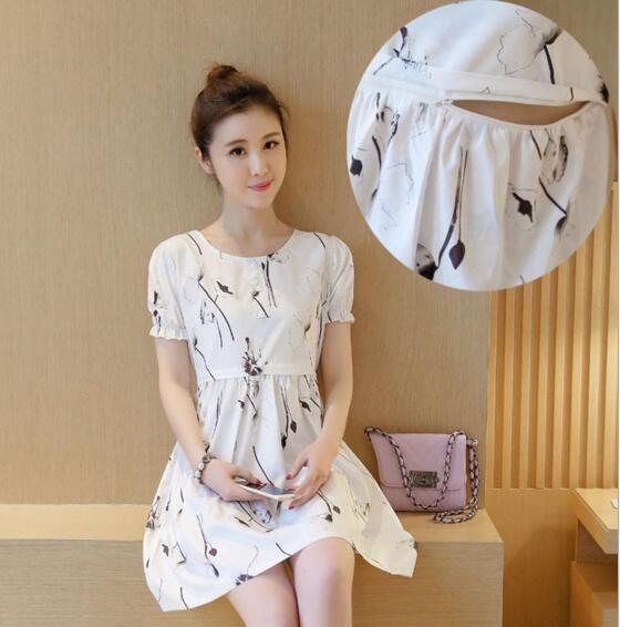 1cbf0cf27d2 Z81533B Summer cotton maternity clothes dress pregnant breastfeeding  nursing dress
