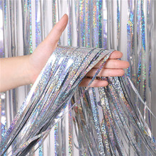 1M*3M*0.016MM   Yiwu Hot Sale Wedding Christmas Party Backdrop Decoration Foil Curtains