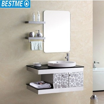 Korean Design Bathroom Vanity Colorful Cabinet For Sale
