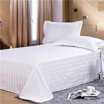 2015 stitching 400 thread count 100% longstaple cotton 5 star stripe hotel bed sheet