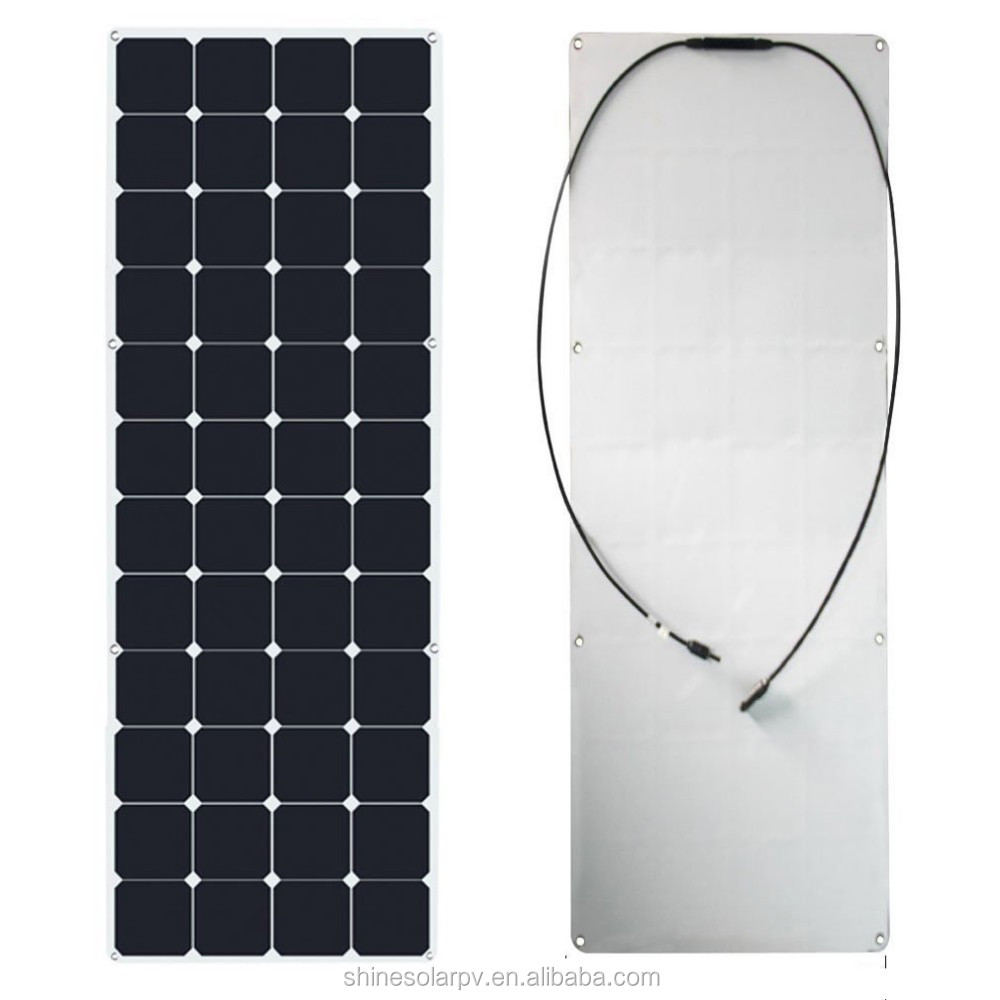 150W bending solar panel and flexible solar photovoltaic panel