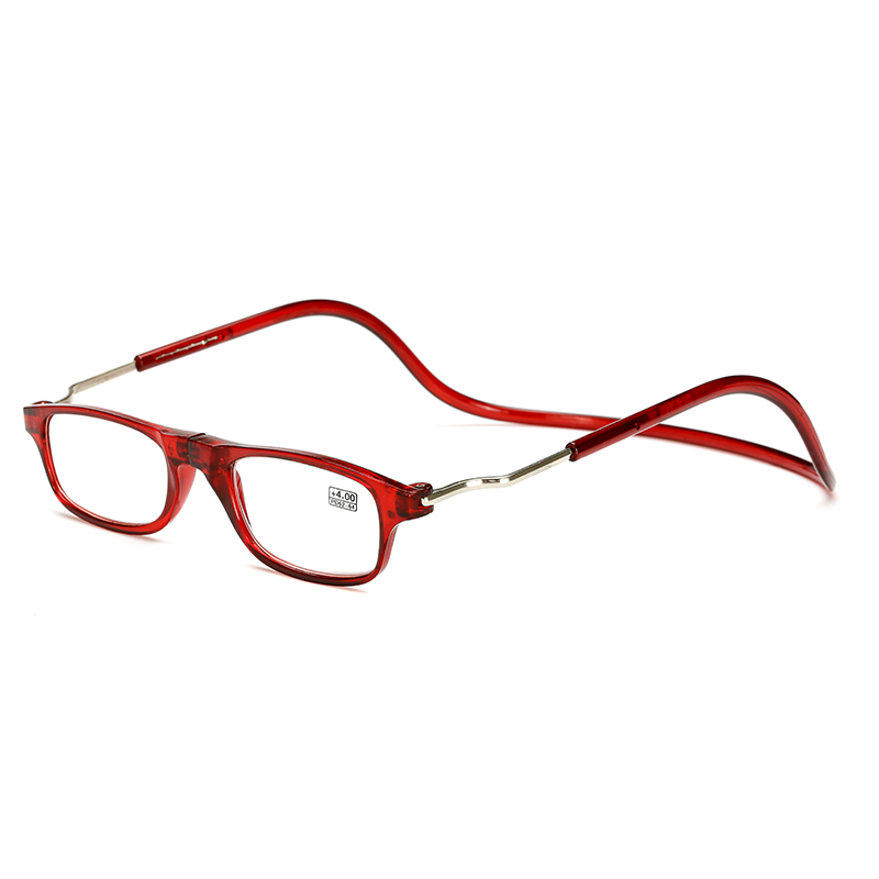 Unisex Magnet Fashion Halter Anti-Folding Hoop Adjustable Strength Magnetic Reading Glasses