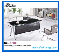 office furniture L shape tempered glass executive table/desk