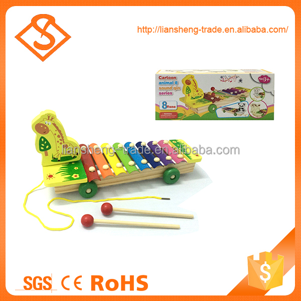 Hot sale children wooden toy learning piano keyboard for hand knock
