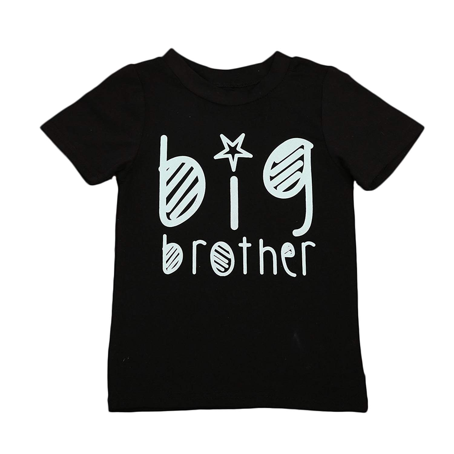 Toddler Baby Boys Girls Sibling Shirts for Big Brother and Big Sister Hipster Design 2-7Years