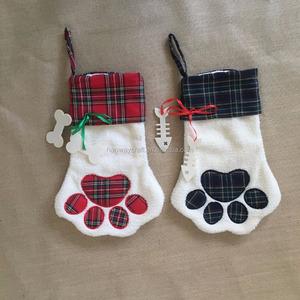 Dog Christmas Stocking.2017 New Products Dog Christmas Stocking Ornament Paw Stocking