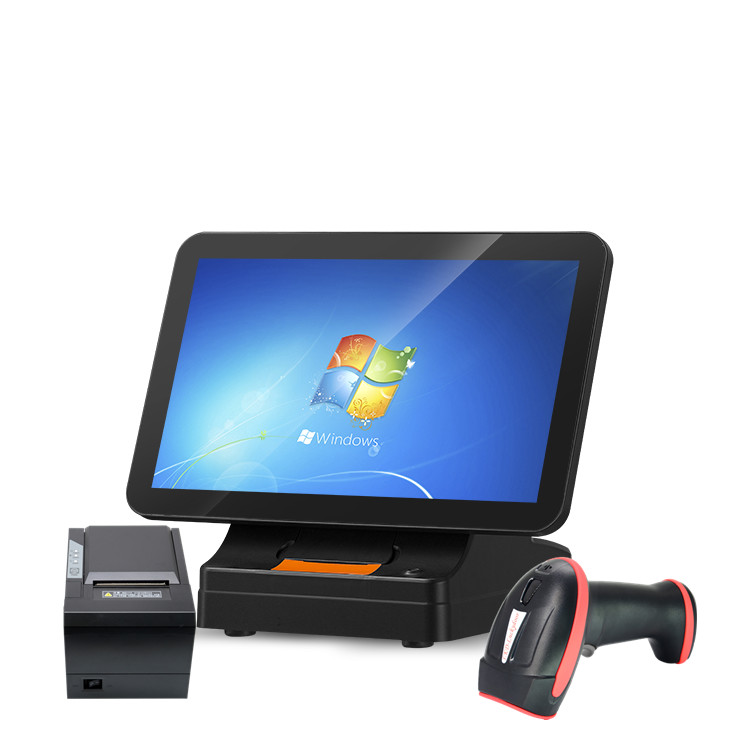 Wholesale Dual Screen Desktop POS Machine Windows/Android POS Terminal Touch Monitor POS System with 58mm Built-in Printer
