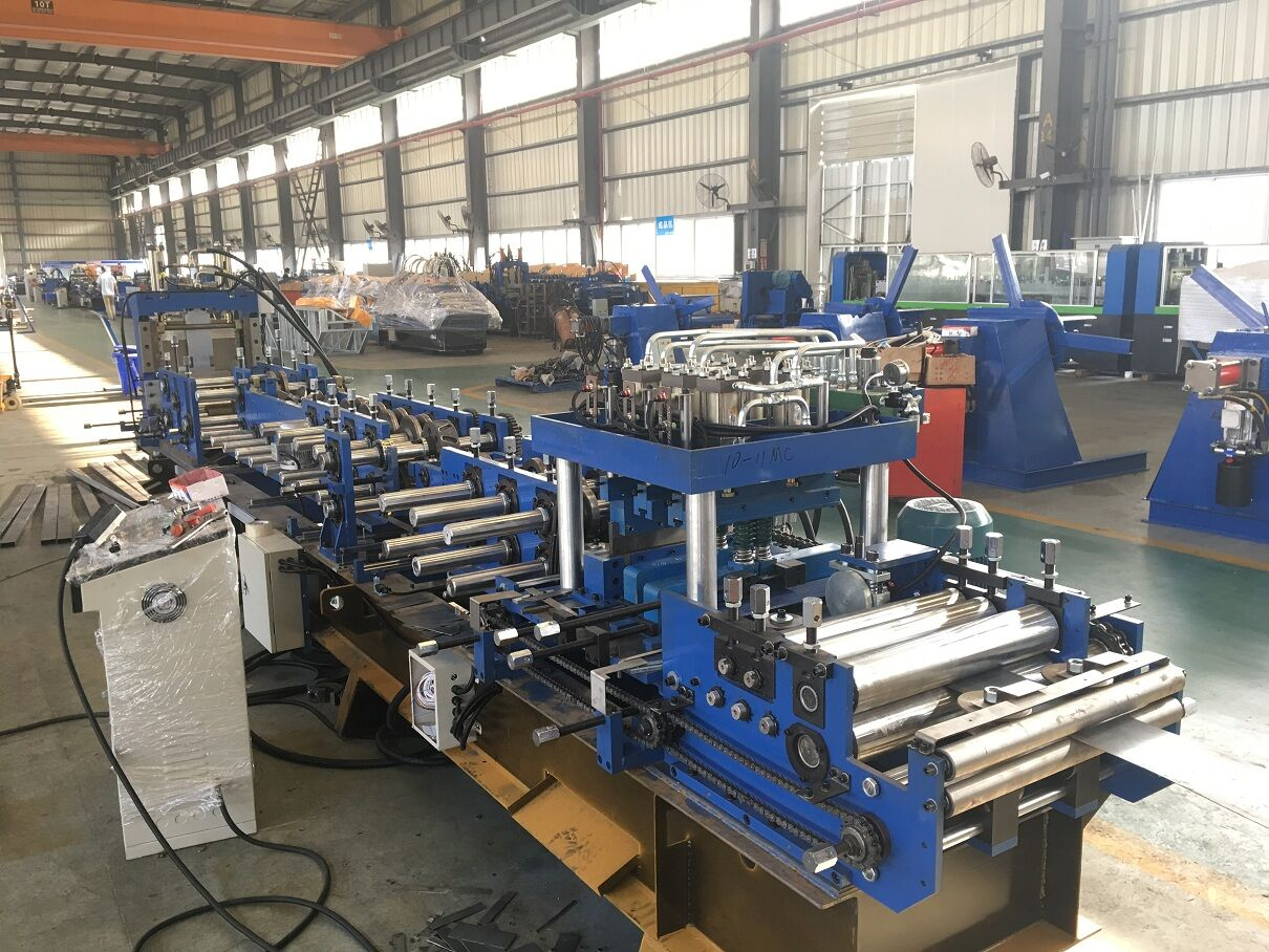 purlin roll forming machine gutter equipment stud roll former