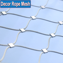 Quality Flexible Stainless Steel Wire Rope Mesh For Bird Rope Netting