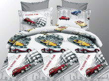 low MOQ disperse print 3D Sheet Set classic car design Bed sheet