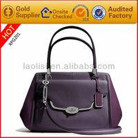 2017 new arrival leather branded handbag in ladies handbags wholesale