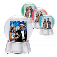 Hot Sale Personalized Handmade Polyresin snow globe photo frame