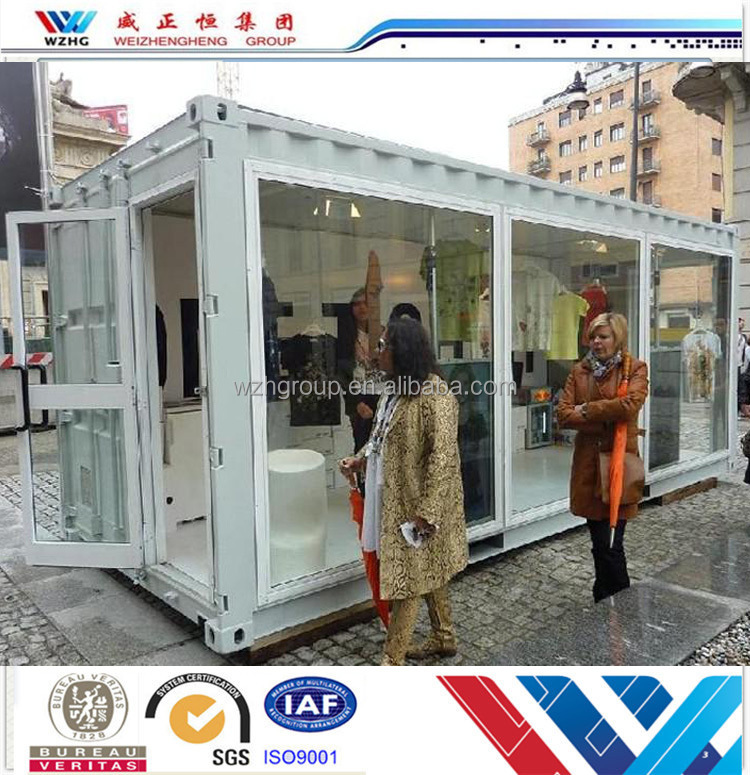 High quality Container house/ container shop with CE,CSA&AS certificate