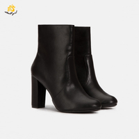 Infinite Stroll Girl X181212 OEM customized brand quality style ladies winter zipper boots shoes high heel boots women